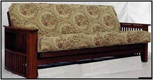 dark cherry or med Oak finish storage arm futon