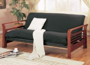 sleigh arm futon all wooden