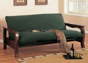 all wooden futon in dark cherry