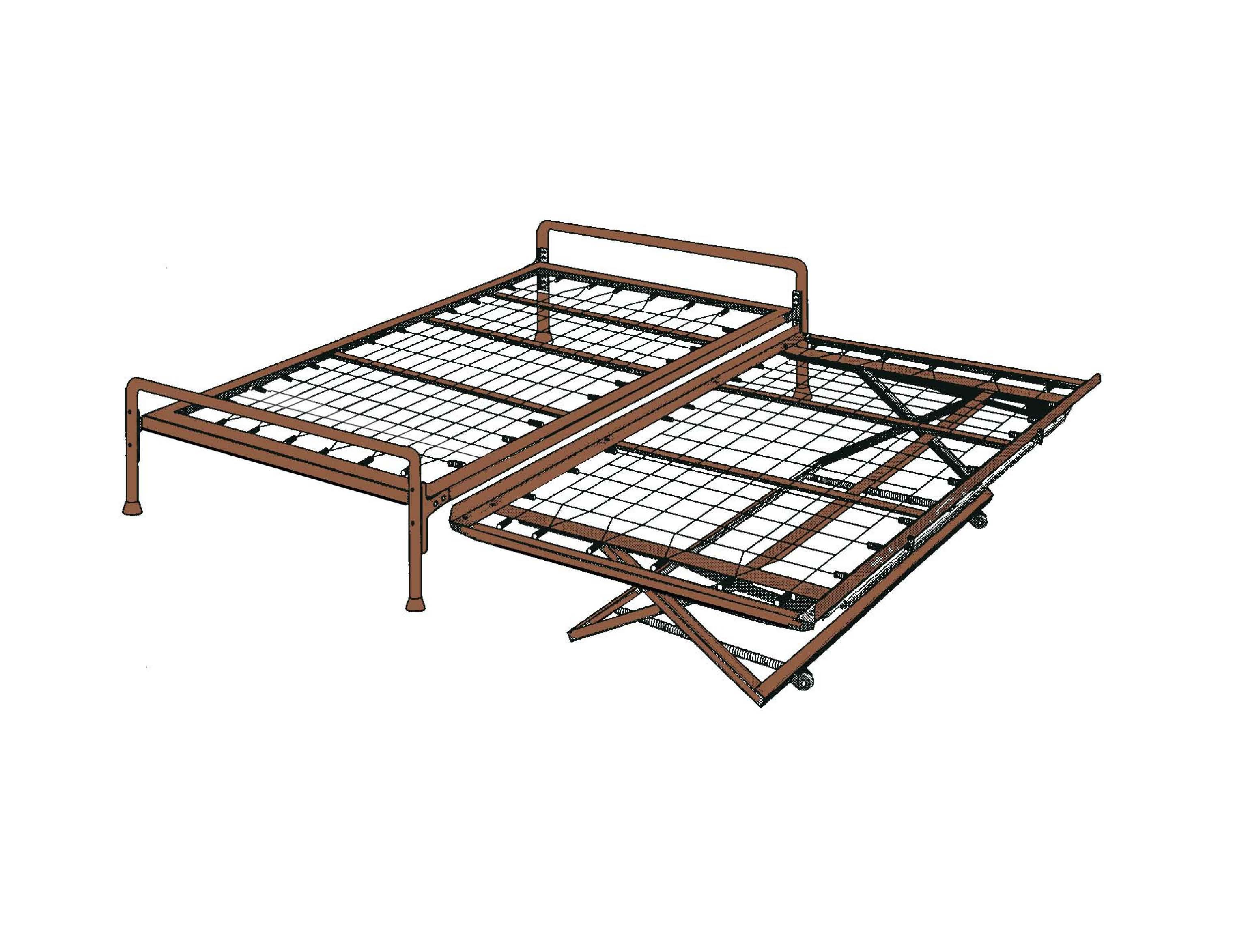 Trundle bed frame - Hirise Day Bed Daybed Frame With Headboard Pop Up Trundle Ebay